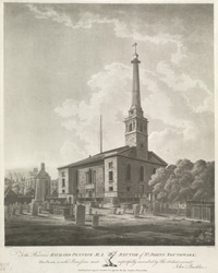 View of St Johns Church, Southwark
